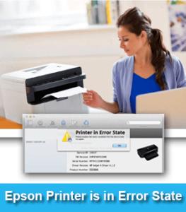 Error state issue on epson printer