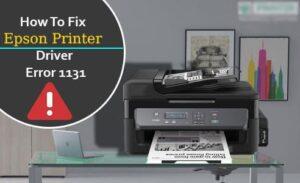Epson printer 1131 error