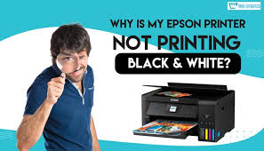 Epson printer not printing black & white